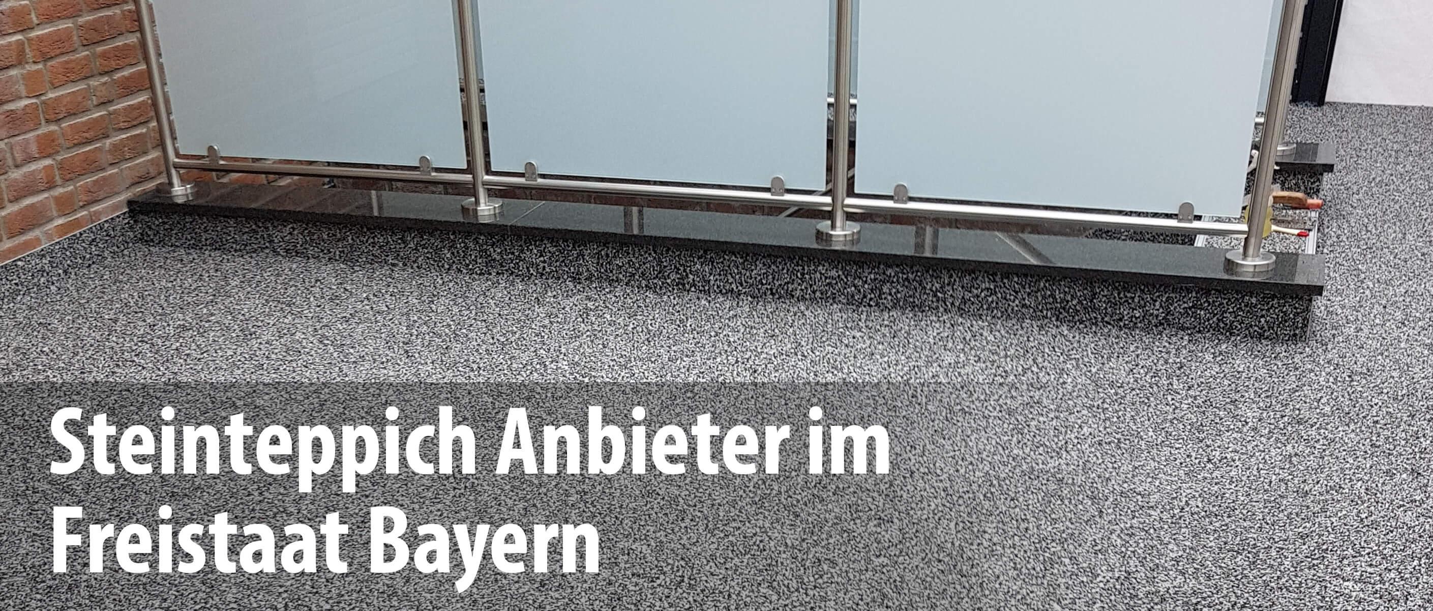 Wir arbeiten mit Steinteppich-Anbietern in Bayern zusammen und bieten mit unseren Partnern die professionelle Sanierung und Abdichtung von Balkonen und Terrassen.